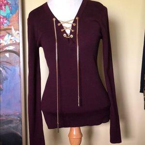NWT Michael Kors Wine Sweater Sz. Medium